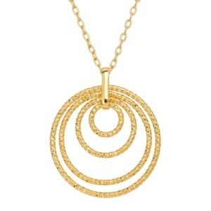 18K Gold-Plated Bronze 18'' Halo Circle Necklace